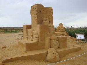 Sandskulpurenfestival in Sondervig